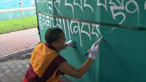 Tybetańskie graffiti na Woli