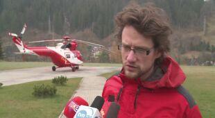 Turysta został przewieziony do szpitala