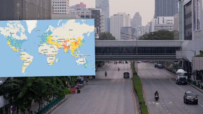 84 procent państw z poprawą jakości powietrza. <br />Wiadomo też, gdzie w pandemii było najtrudniej oddychać