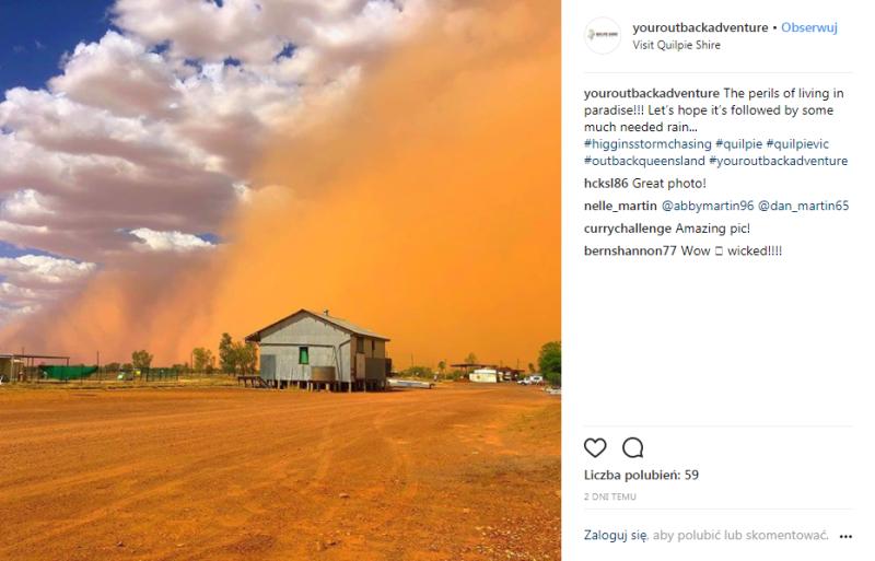 Burza pyłowa w Australii