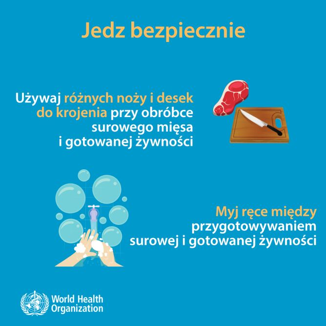 Jedz bezpiecznie (tvnmeteo.pl za WHO)