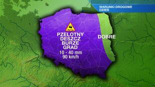 Drogi będą śliskie w niemal całej Polsce