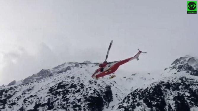 Wypadek pod Rysami. <br />W Tatrach panują trudne warunki