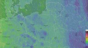 Prognozowane temperatury w najbliższych dniach (film: Ventusky.com)